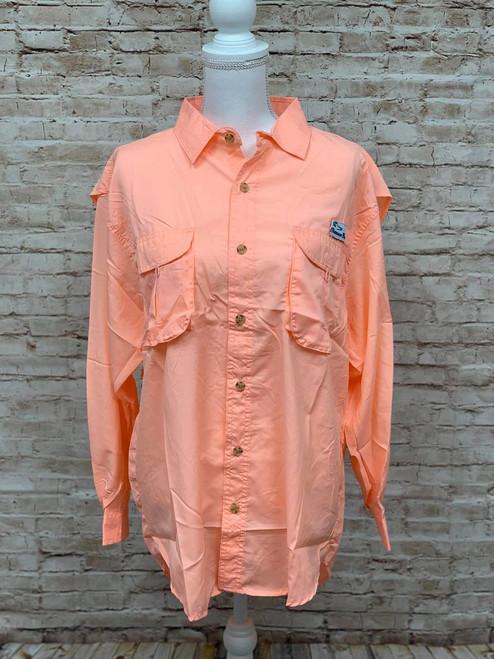 Branson Bay Fishing Shirt - Coral