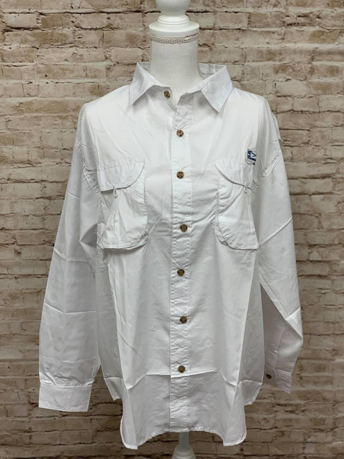 Branson Bay Fishing Shirt - White