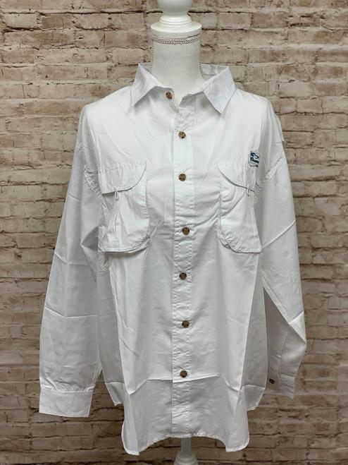 Branson Bay Fishing Shirt - White