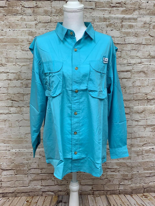 Branson Bay Fishing Shirt - Turquoise