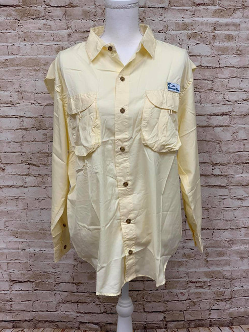 Branson Bay Fishing Shirt - Light Yellow