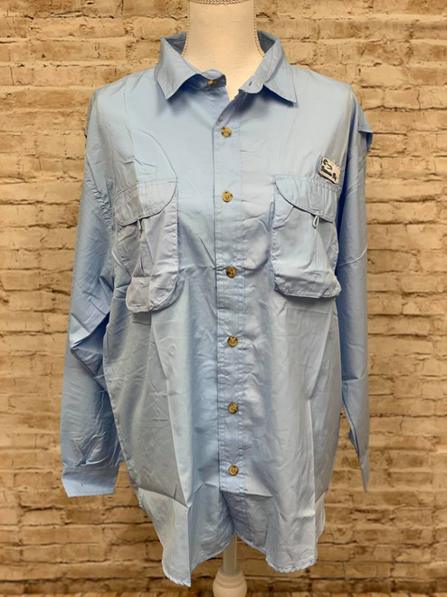 Branson Bay Fishing Shirt - Blue