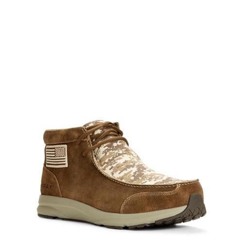 Ariat® Men's Spitfire Patriot Antique Mocha Suede Camo Shoes