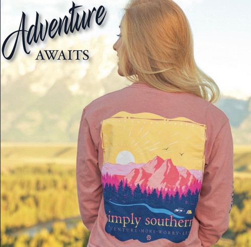 """Simply Southern LS Tee """"Adventure"""""""