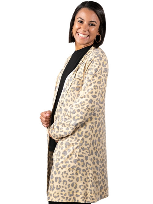 Simply Southern Cardigan Leopard Golden