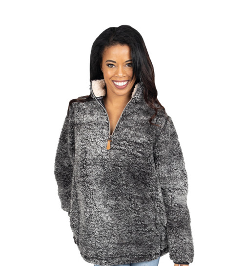 Simply Southern Sherpa Pullover - Dark Gray