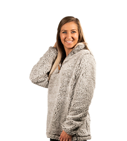 Simply Southern Sherpa Pullover - Heather Gray