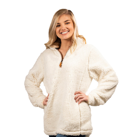 Simply Southern Sherpa Pullover - Cream
