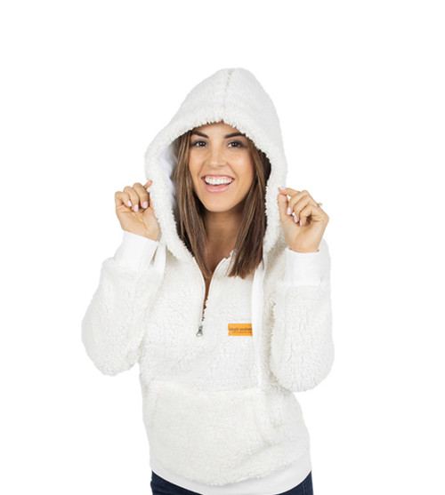 Simply Southern Sherpa Hoodie - Cream