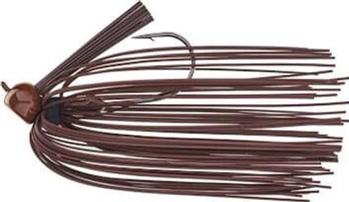 (24) Strike King J-Lee Comeback Jig 3/8 Brown Rubber