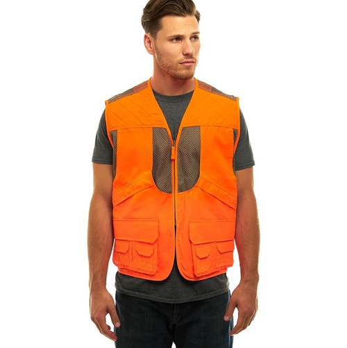 Unisex Deluxe Blaze Orange Safety Front Loader Vest
