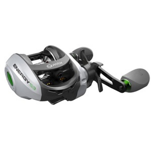 Quantum Energy S3 PT Baitcast Fishing Reel, 10+1 Bearings, 6.3:1 Gear Ratio, Left Hand, Size 100