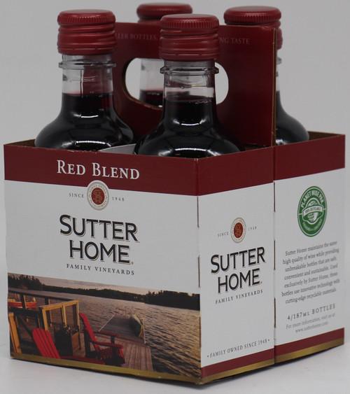 SUTTER HOME RED BLEND 4pk 187ml Bottles