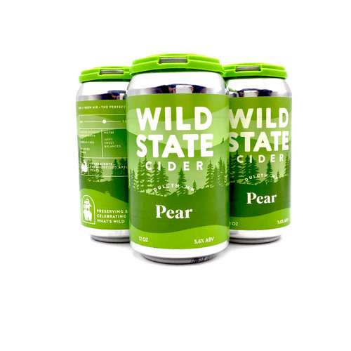 WILD STATE PEAR CIDER 4pk 12oz. Cans