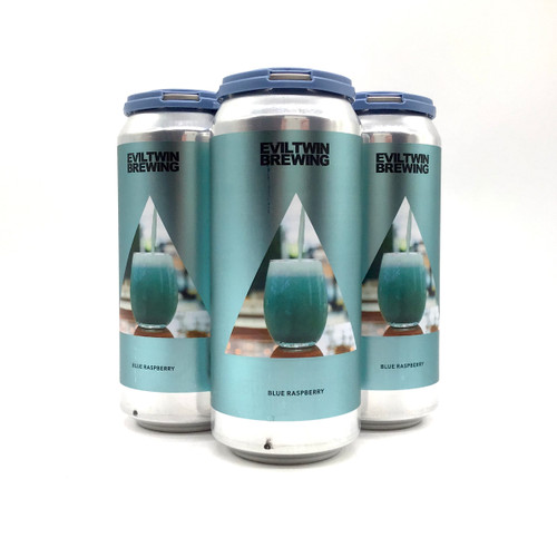 EVIL TWIN BLUE RASPBERRY SOUR IPA WITH RASPBERRY FLAVOR 4pk 16oz. Cans