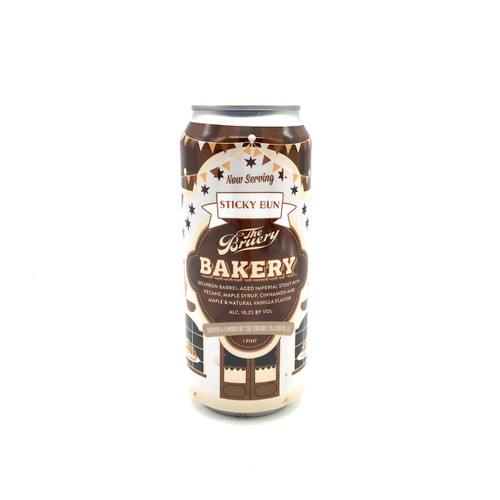 BRUERY BAKERY STICKY BUN BOURBON BARREL-AGED IMPERIAL STOUT WITH PECANS, MAPLE SYRUP, CINNAMON AND MAPLE 500ml