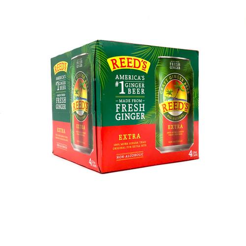 REEDS EXTRA GINGER GINGER BEER 4pk 12oz. Cans