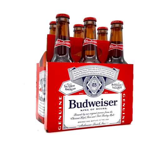BUDWEISER 6pk 12oz. Bottles