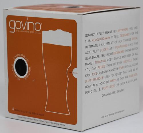 GOVINO BEER GLASSES 4 PACK