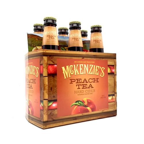 McKENZIE PEACH TEA 6pk 12oz. Bottles