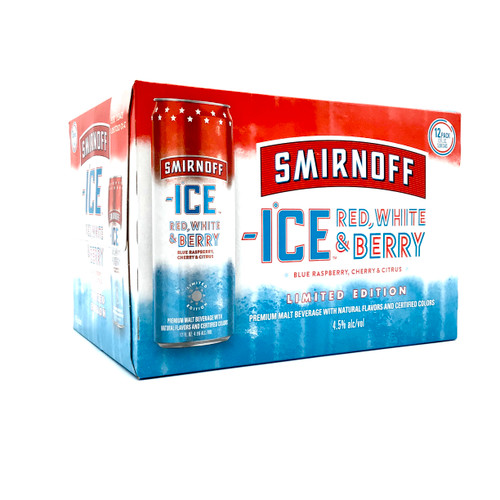 SMIRNOFF ICE RED WHITE BERRY 12pk 12oz. Cans