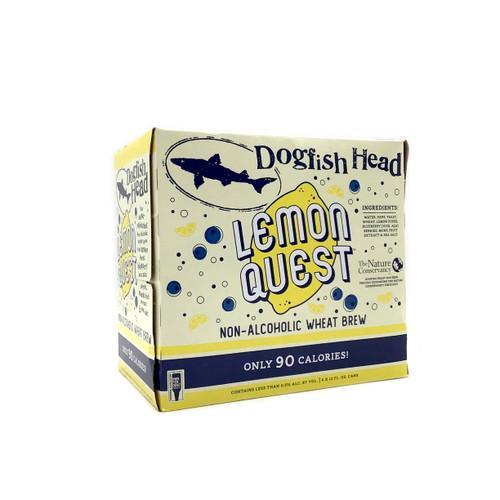 DOGFISH HEAD LEMON QUEST NO-ALCOHOL WHEAT BREW 6pk 12oz. Cans