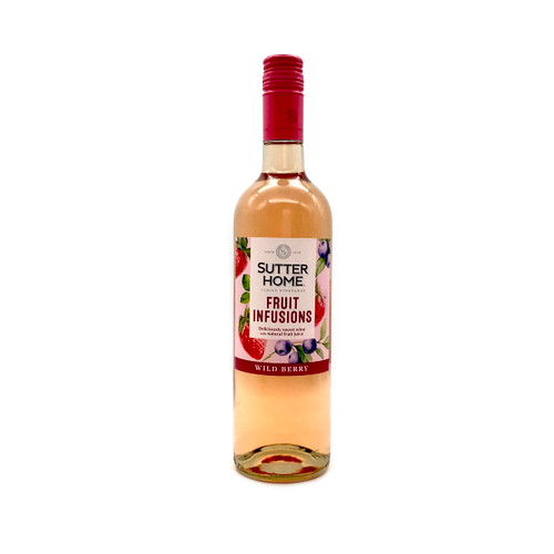 SUTTER HOME FRUIT INFUSIONS WILD BERRY 750ml