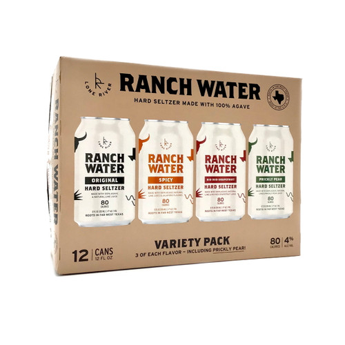 LONE RIVER RANCH WATER HARD SELTZER VARIETY 12pk 12oz. Cans