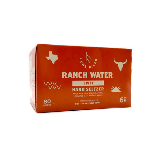 LONE RIVER RANCH WATER HARD SELTZER SPICY WITH LIME JUICE AND JALAPENO FLAVORS 6pk 12oz. Cans