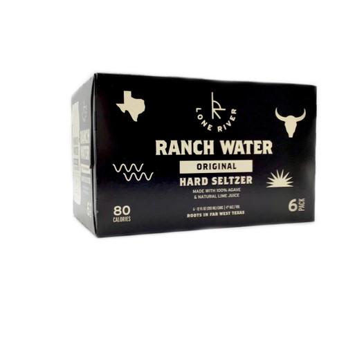 LONE RIVER RANCH WATER HARD SELTZER ORIGINAL 6pk 12oz. Cans