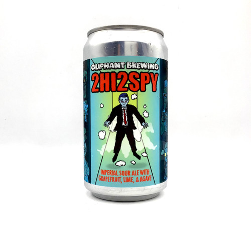 OLIPHANT 2HI2SPY IMPERIAL SOUR ALE WITH GRAPEFRUIT, LIME, AND AGAVE Crowler