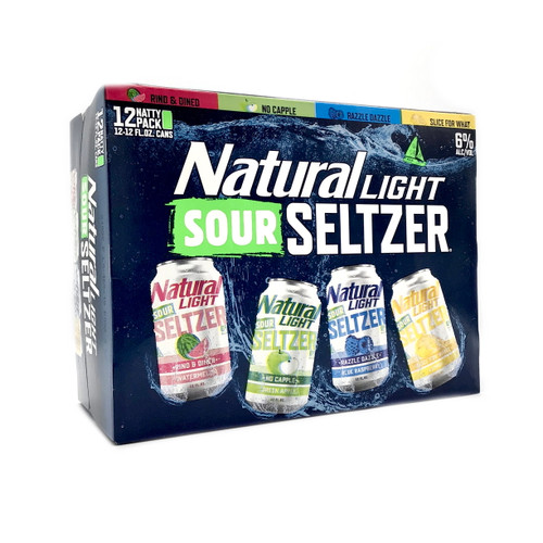 NATURAL LIGHT SOUR SELTZER VARIETY PACK 12pk 12oz. Cans