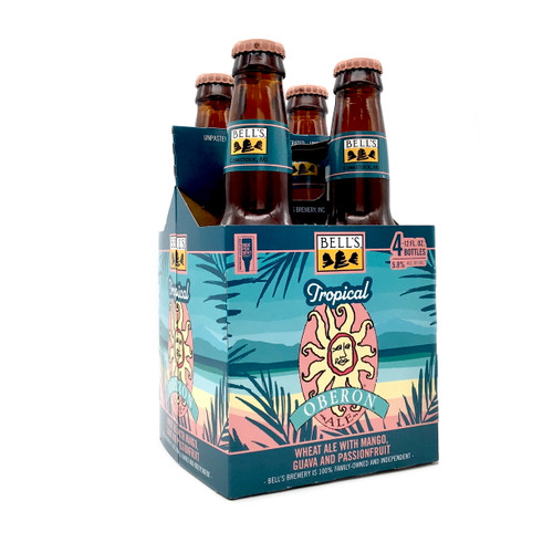 BELL'S TROPICAL OBERON WHEAT ALE WITH MANGO, GUAVA AND PASSION FRUIT 4pk 12oz. Bottles