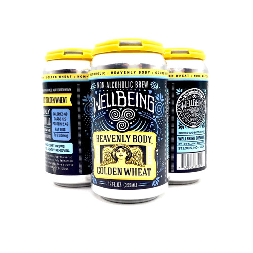 WELLBEING HEAVENLY BODY GOLDEN WHEAT NON ALCOHOLIC 4pk 12oz. Cans