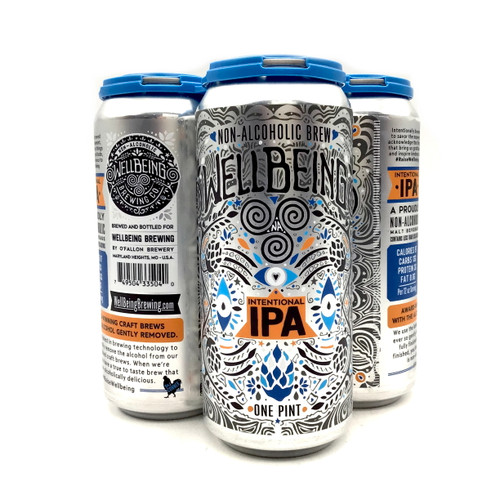 WELLBEING BREWING COMPANY: INTENTIONAL IPA NON ALCOHOLIC 4pk 12oz. Cans