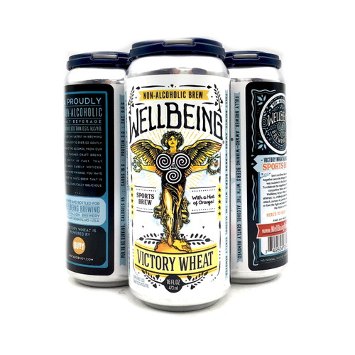 WELLBEING BREWING COMPANY: VICTORY WHEAT NON ALCHOLIC 4pk 12oz. Cans