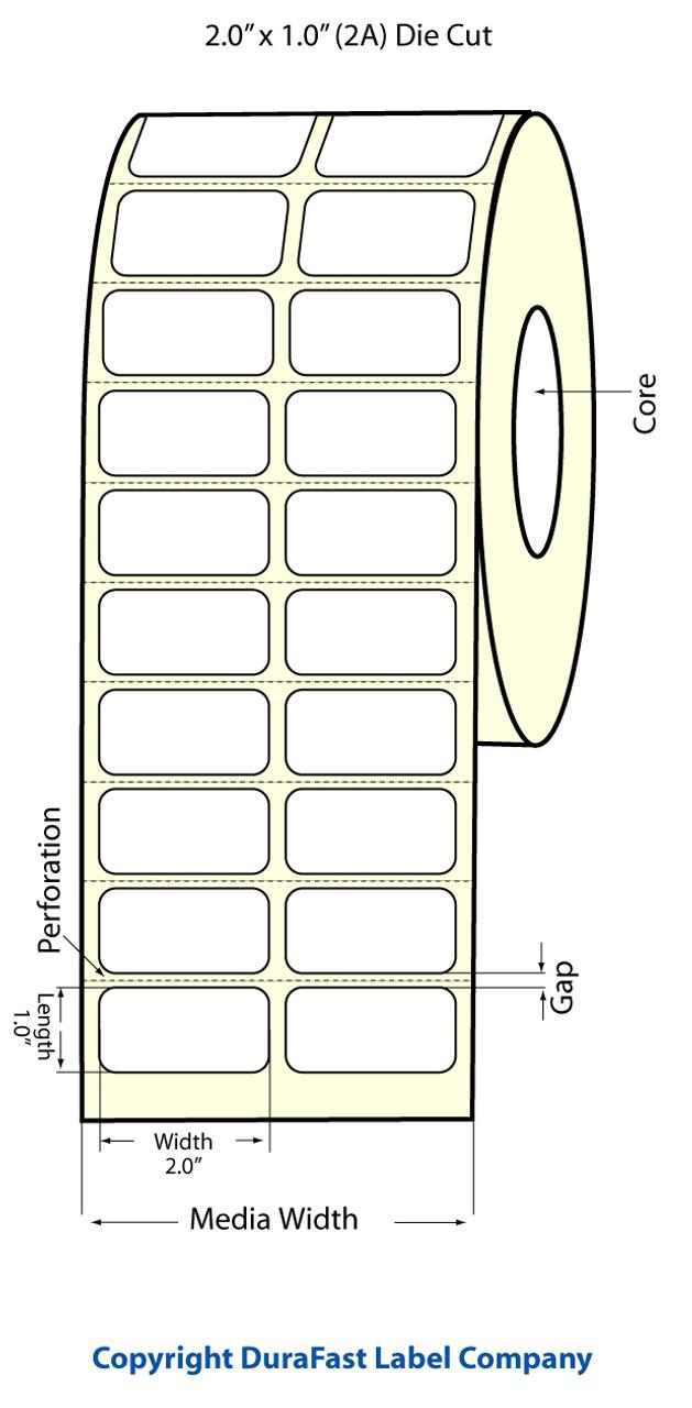 tm c3500 2 x 1 2a matte paper label 2150 roll