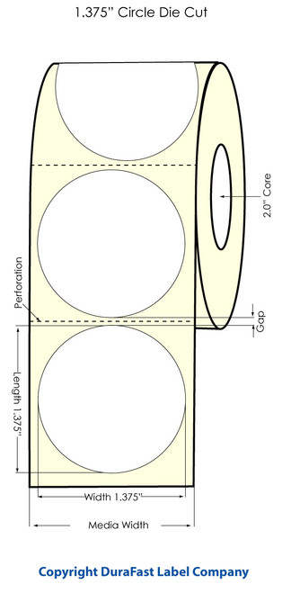 "Primera LX400 1.375"" Circle High Gloss Labels | Labels by Primera"