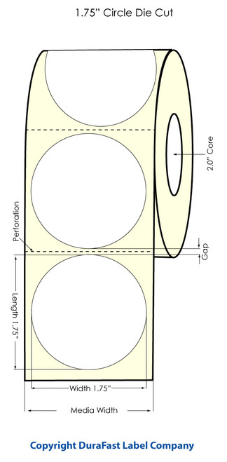 Primera LX400 1.75 Circle High Gloss Labels | Labels by Primera