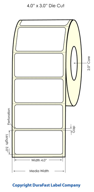 "Primera LX400 4"" x 3"" High Gloss Labels | Labels by Primera"