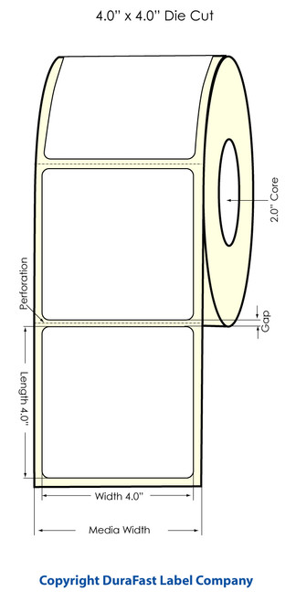 "Primera LX400 4"" x 4"" High Gloss Labels | Labels by Primera"