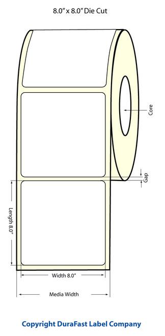 "Primera LX900 8""x8"" NP Matte BOPP Labels | Primera LX900 Labels | Labels"