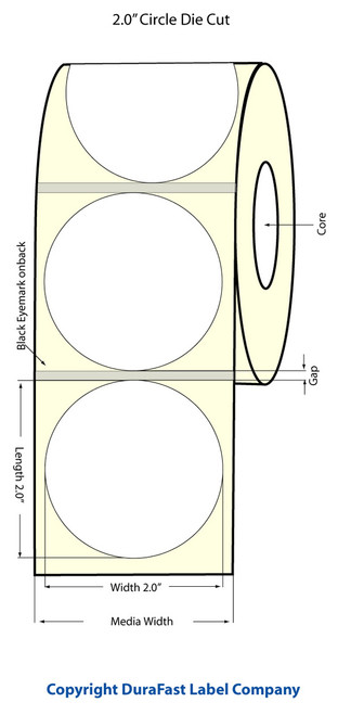 "Primera LX900 2"" Circle NP Matrix ON Glossy BOPP Labels | Primera LX900 Labels | Labels"