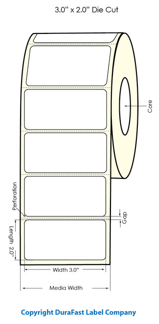 "Primera LX900 3""x2""  White Polyester Labels | Primera LX900 Labels | Labels"