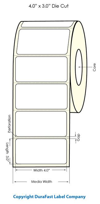 "Primera LX900 4""x3""  White Polyester Labels   Primera LX900 Labels   Labels"