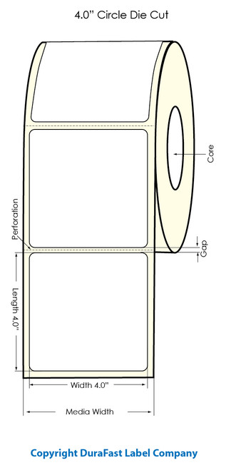 "Primera LX900 4""x4""  White Polyester Labels   Primera LX900 Labels   Labels"