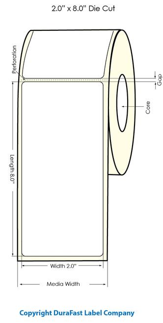 "Primera LX900 2""x8""  White Polyester Labels | Primera LX900 Labels | Labels"