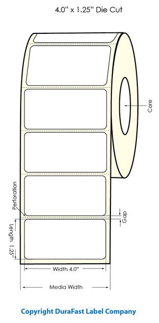 "Primera LX900 4""x1.25"" White Polyester Labels | Primera LX900 Labels | Labels"