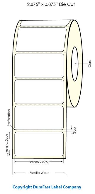 "Primera LX900 2 7/8""x7/8"" White Polyester Labels | Primera LX900 Labels | Labels"