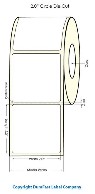 "Primera LX900 2""x2"" White Polyester Labels | Primera LX900 Labels | Labels"